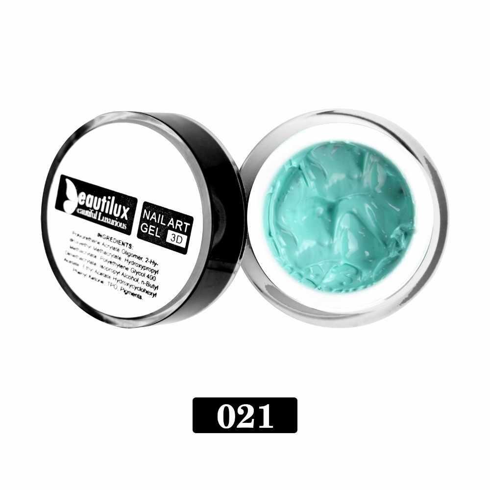 3D Emboss nail gel Clear Melkwit Camouflage Naakt Roze Rubber Base Coat Gel Polish UV LED Soak Off Gel nagellak 10ml