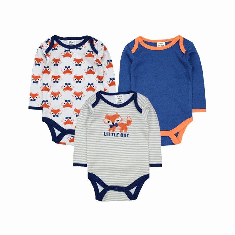 Մոտավոր Cutest 3 հատ / շատ Baby Romper Երկար թև - Հագուստ նորածինների համար - Լուսանկար 3