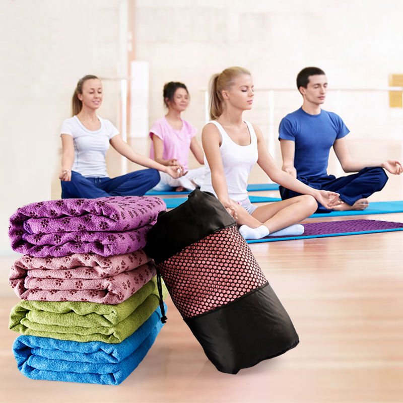YOUGLE Non Slip Yoga Mat Cover Towel Blanket Sport Fitness Exercise Pilates Workout HOT soumit 5 colors professional yoga socks insoles ballet non slip five finger toe sport pilates massaging socks insole for women