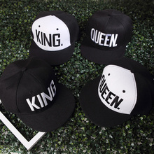 Здесь можно купить  Cool KING QUEEN Embroidered winter Snapback Caps For Men Women Lover Baseball Cap Black Hip Hop Cap Flat Snapback hats chapeau  Apparel Accessories