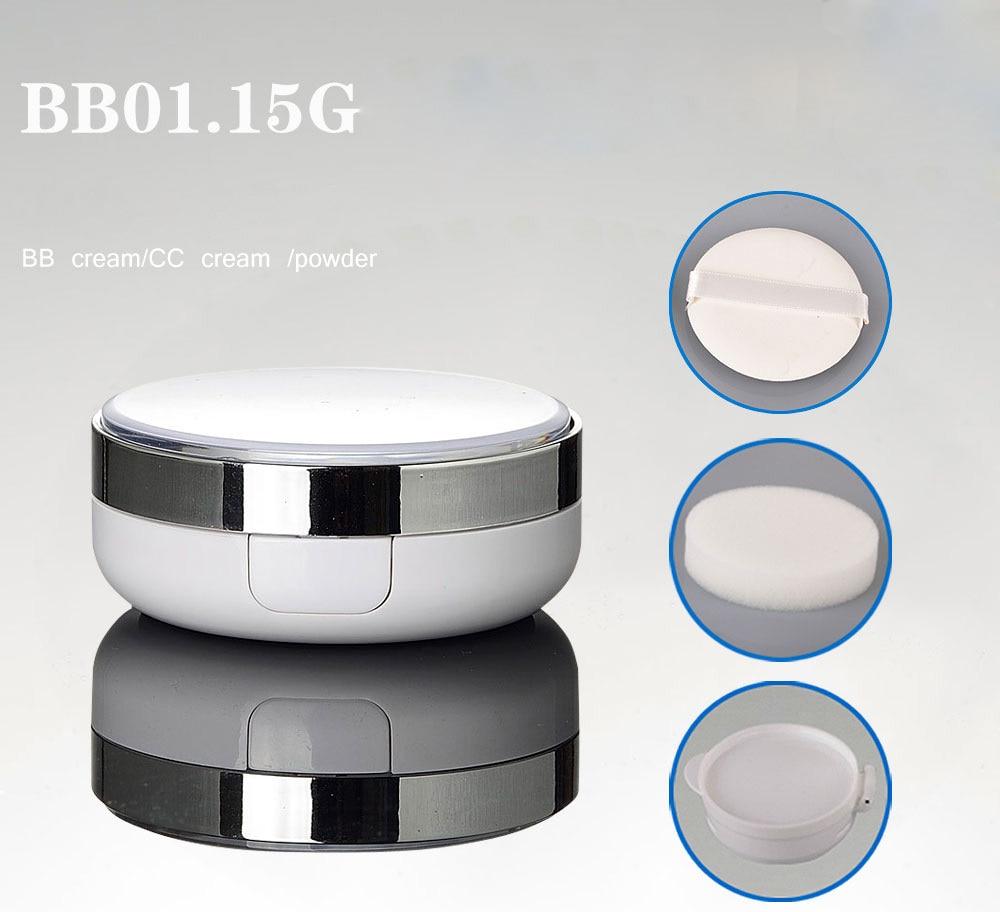 1PCS 15g 2015 new South Korea air cushion BB cream jar CC creams foundation liquid pressed powder jars DLY chanel 5ml cc cc cream