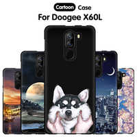 JURCHEN Phone Case For Doogee X60L 5.5 Case Cute Cartoon Print Silicone Soft TPU Back Cover For Doogee X60L X60 L Case Cover