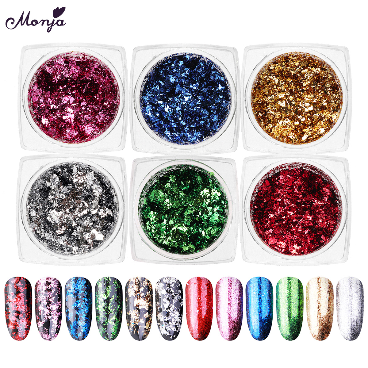 Painting Furniture Decpration and Resin Jewelry Making 3 Colors 9g Imitation Gold//Silver//Copper Leaf Metallic Foil Flakes for Resin Crafts,Nails Art 3 Color Gold Foil Flakes for Resin