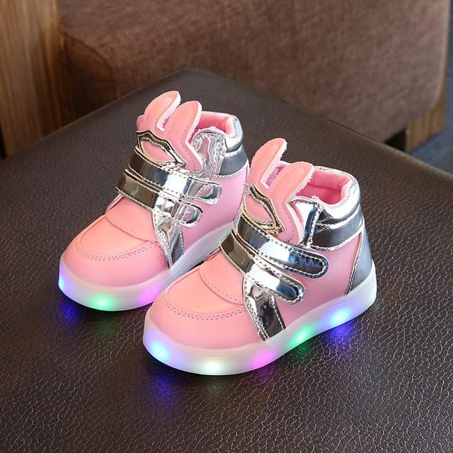 Size 21-30  Ardore Luminoso Scarpe Da Tennis Led Pantofole Trainer Bambino  Pattini 700e1f76546