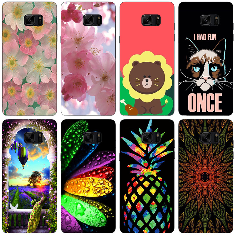 Coque for Samsung Galaxy Note 7 FE Cases Soft TPU Painted Silicone Back Covers for Samsung Galaxy Note 7 N9300 Fundas Coque