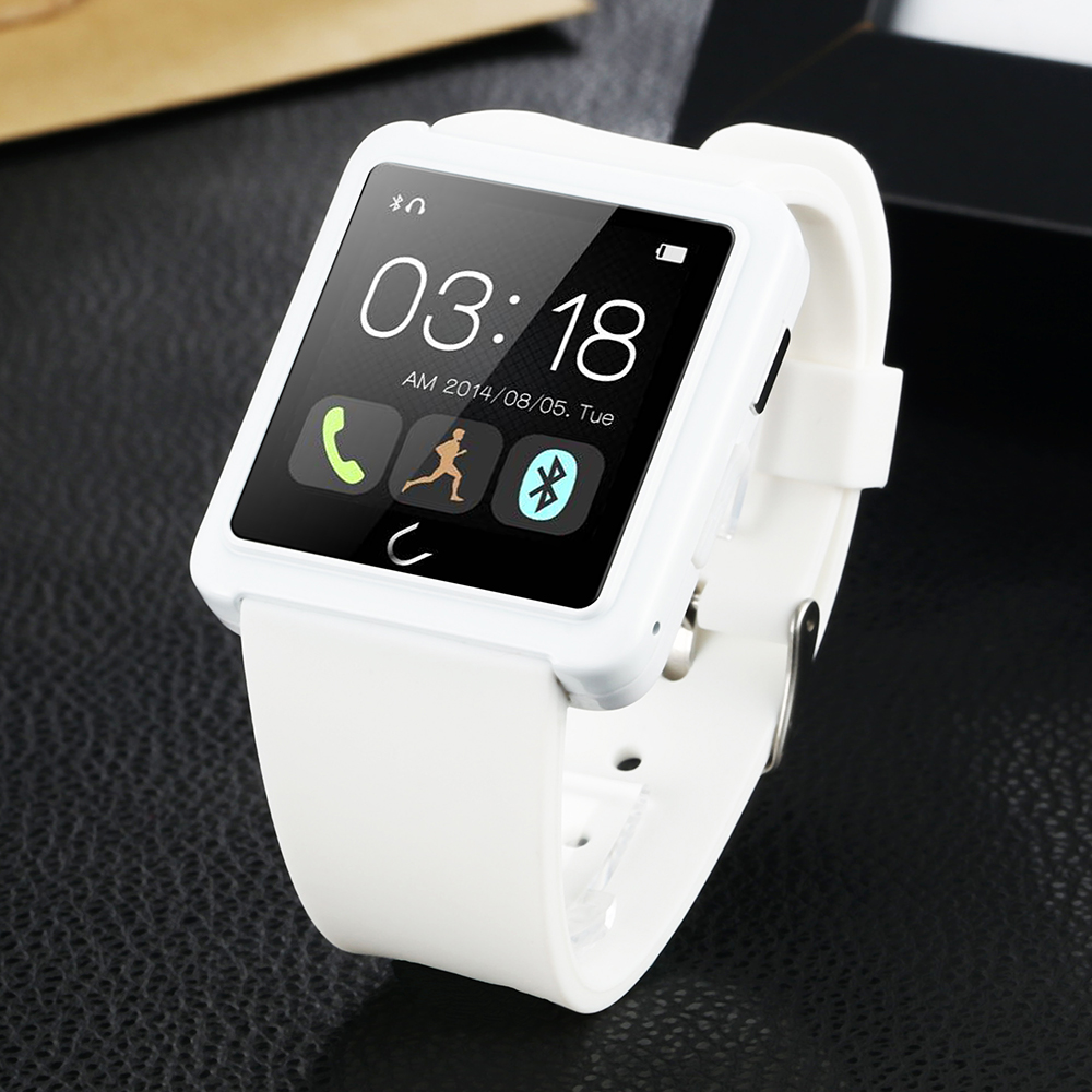 FLOVEME Luxury Bluetooth Smart Watch For Andriod IOS Smart Watch D2 Touchpad Passometer Wearable