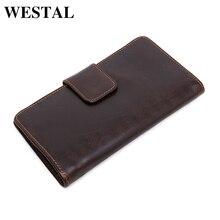 WESTAL Echtem Leder Männer Brieftaschen Mode Handtaschen Mann Brieftasche Kartenhalter Business-tasche Männlichen Multifunktionale Geldbörse 3314