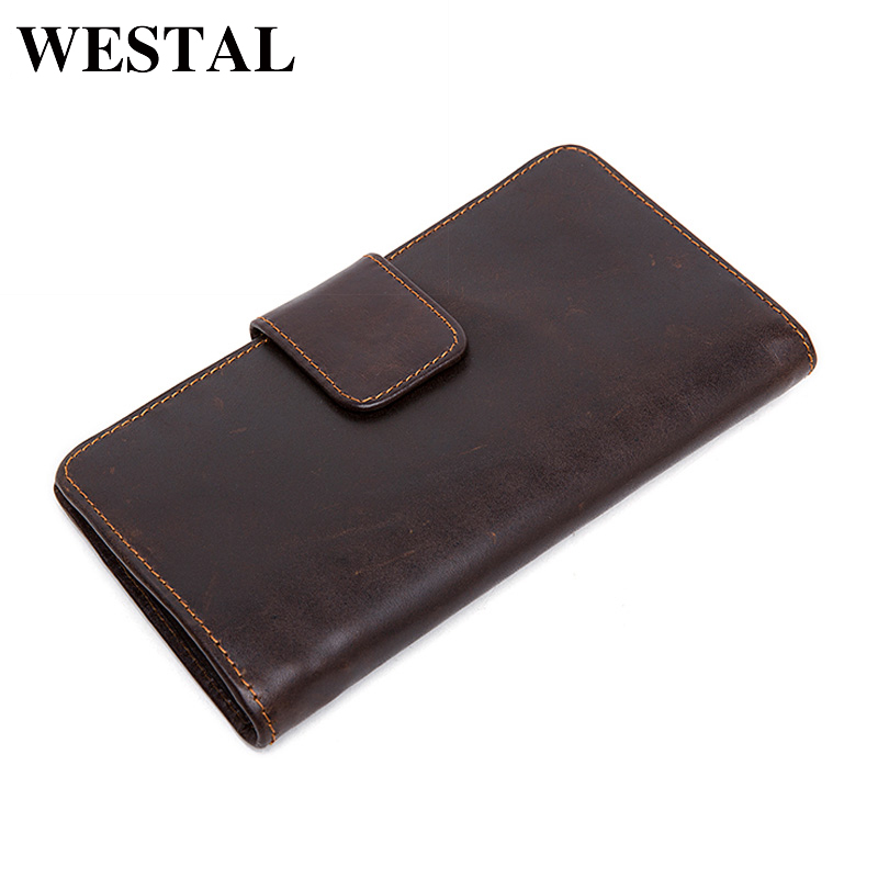 WESTAL Genuine Leather Wallet Male Clutch Men Wallets male leather Wallet Credit Card Holder Multifunctional Coin Purse 3314 westal wallet male genuine leather men s wallets for credit card holder clutch male bags coin purse men genuine leather 9041