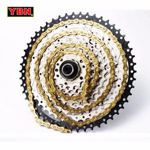 Image 5 - YBN خفيفة 9 10 11 سرعات سلسلة دراجات SLR الذهب جوفاء سلسلة الدراجة الجبلية الطريق لنظام شيمانو/SRAM/Campanolo