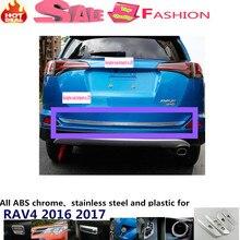Coche de Acero Inoxidable Parachoques Trasero interior trim tronco luz de placa frame panel 1 unids para Toyota Nuevo RAV4 umbral pedal 2016 2017
