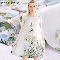 140 см шириной 13 мм шелковый льняной ткани цифровой печати Шелковый льняной ткани одежда cheongsam ткань юбки