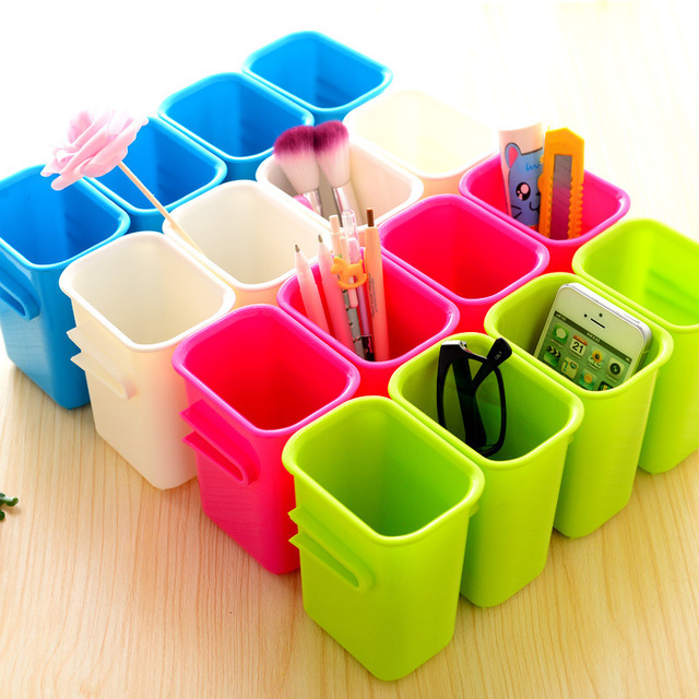 Clear Plastic Storage Boxes Small Colored Decorative Office Storage Fashion  Home Desktops Organizer Makeup Storage Box