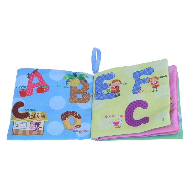 Kids Baby Intelligence Development Cloth Books Bed Cognize Educational Toys ABC Style