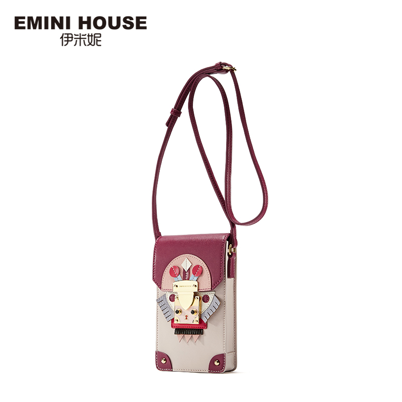 EMINI HOUSE Indian Style Panelled Phone Bag Split Leather  Women Shoulder Bags Crossbody Bags For Women Mini Messenger Bag 2017 fashion all match retro split leather women bag top grade small shoulder bags multilayer mini chain women messenger bags