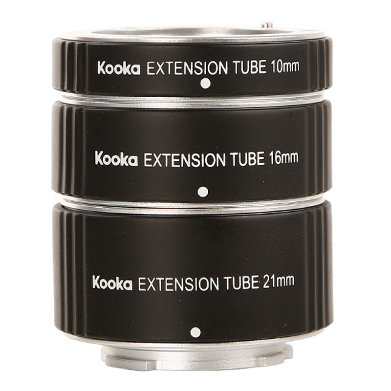 KOOKA KK PQ47A Metal Extension Tube Set Aluminium Alloy TTL Exposure for Pentax Q Mount Mirrorless DSLR SLR Camera Lens Adapter in Lens Adapter from Consumer Electronics