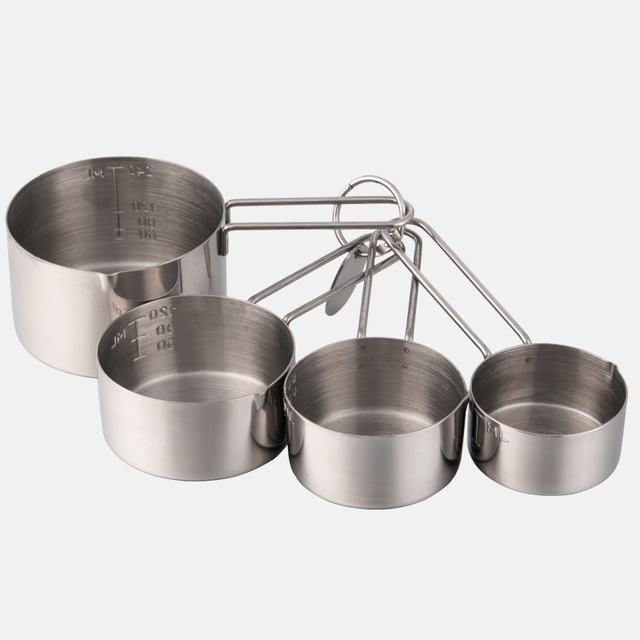 4 Pieces/set high quality 304 stainless steel measuring cups