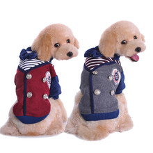 Newest pet school uniform style jumpsuit  XL pet clothes warm winter Thickening clothing coat for dogs pet jacket winter