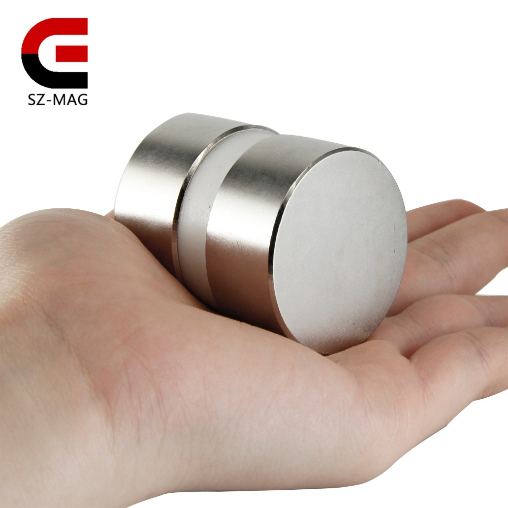 2pcs super powerful Dia 40mm x 20mm neodymium magnet 40x20 disc magnet rare earth NdFeB N52 magnets 5 x 20mm cylindrical ndfeb magnet silver 20pcs pack