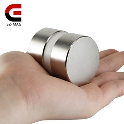 2pcs super powerful Dia 40mm x 20mm neodymium magnet 40x20 disc magnet rare earth NdFeB N52 magnets