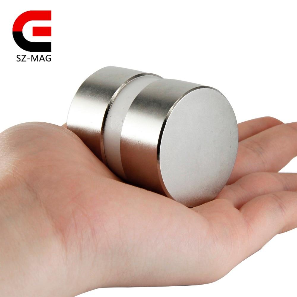 2pcs super powerful Dia 40mm x 20mm neodymium magnet 40x20 disc magnet rare earth NdFeB N52 magnets