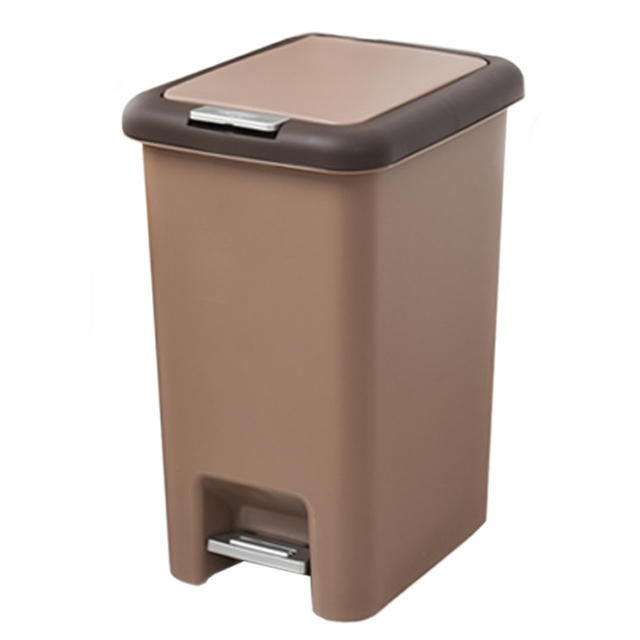 573cf8b0d Square Trash Can 8L 10L Pressing Cover Type Kitchen Waste Bin Sitting Room  Toilet Trash