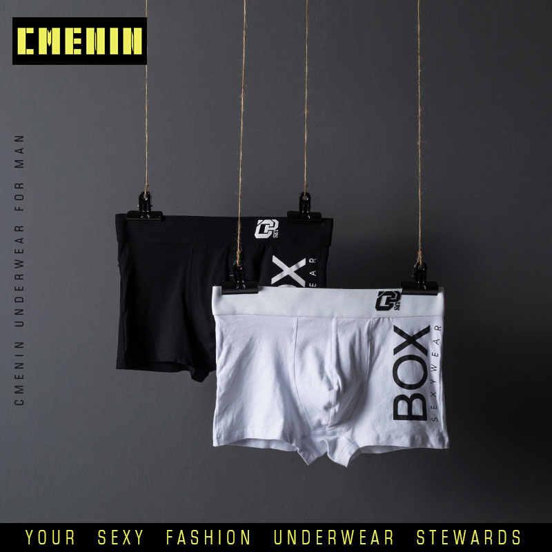 מתאגרף לגברים CMENIN כותנה לוגו רך סקסי גברים תחתונים בוקסר מכנסיים קצרים 2020 חדש Innerwear Mens Boxershorts Underware מתאגרפים הומו