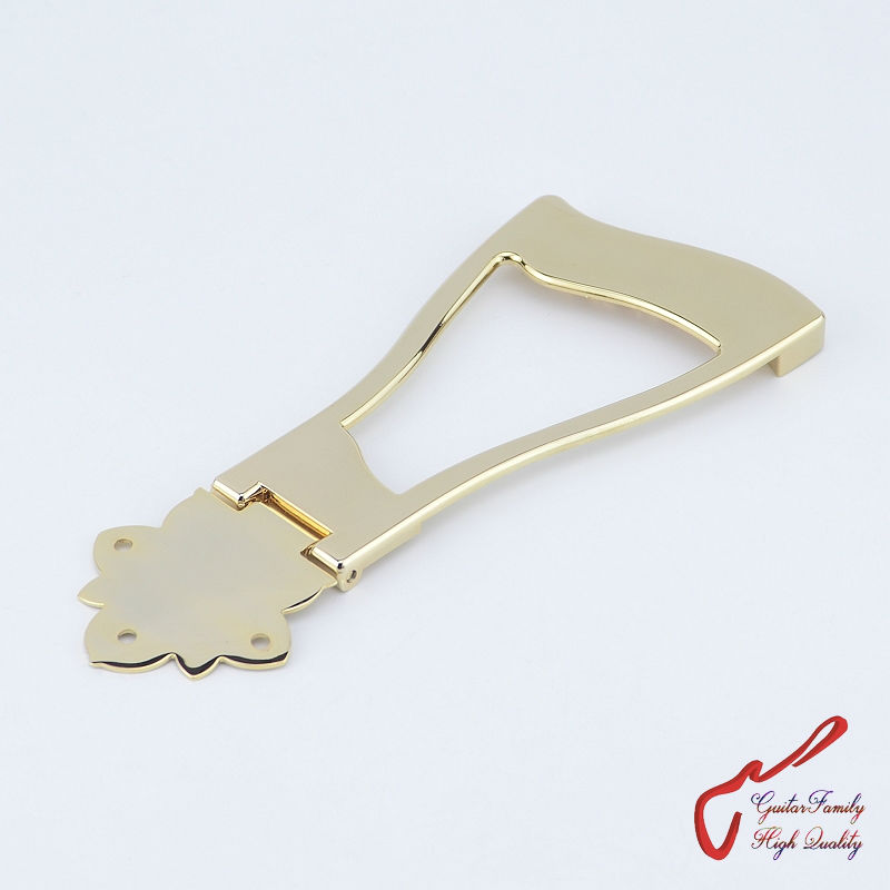 1 Set GuitarFamily Jazz Guitar Bridge Tailpiece For Hollow Body Archtop Guitar  Gold  ( #1181 ) MADE IN KOREA 1 set guitarfamily alnico pickup for casino jazz guitar nickel cover made in korea