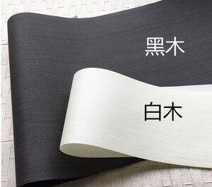 Image 1 - 2 adet/grup L:2.5 metre genişlik: 55cm kalınlık: 0.25mm mürekkep siyah beyaz ahşap kaplama Model dekoratif kaplama