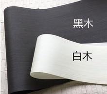 2Pieces/Lot L:2.5Meters  Width:55cm  Thickness:0.25mm Ink Black White Wood Veneer Model Decorative Veneer