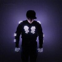 Mejor Traje de armadura de Led para iluminar chaquetas guantes gafas LED ropa traje con Led para