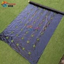 Tewango Película de Control de malezas biodegradable, calcomanías de parches vegetales, bordes de 0,95 m x 10m/20/50M, cubierta de tierra de 0,02 MM de grosor