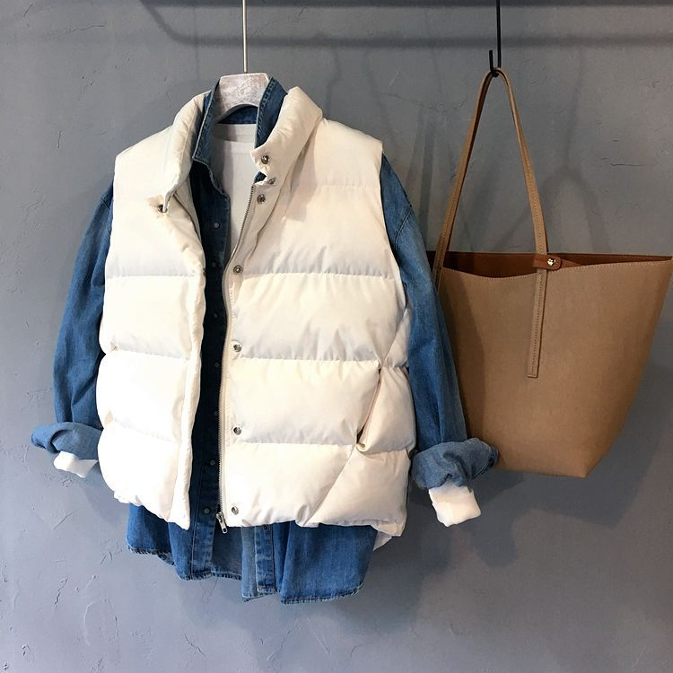 2019 Mode 2018 Winter Vrouwen Parka Nieuwe Koreaanse Versie Van Dikke Brood Kleding Stand Kraag Mouwloos Katoenen Vest 103 Zo Effectief Als Een Fee Doet