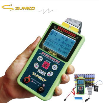 SUNKKO T-616 Battery Tester Electric Vehicle LED Digital Display High Precision Voltage Detector 1-16S Portable Voltage Detector