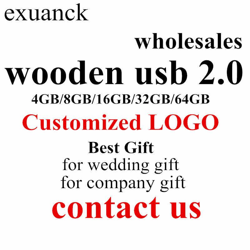 Venta al por mayor personalizado de madera usb 2,0 pen drives logo grabado para regalo de boda de regalo de empresa 128 MB-64 GB pluma coche de memoria