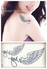 Body Art Fashion Waterproof Temporary Tattoos For Women Angel's Wings Tattoo Sticker HC1005