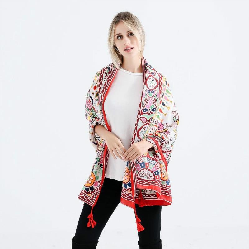 2018 Hot Selling Oversized Geometric Pattern Print Shawls   Scarf   Women Pashmina Stoles Soft Cotton Linen Winter   Scarves     Wraps