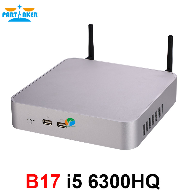 Quad Core I5 6300HQ Partaker Mini PC Max 32G DDR4 RAM Windows 10 Fan Mini Computer I5 With AC WIFI Bluetooth HDMI VGA DP