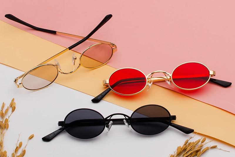 Tiny Oval Sunglasses Men detail (5)
