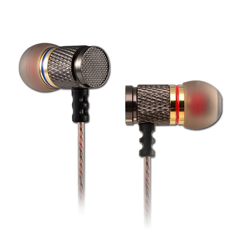 Original KZ-ED2 Metal Stereo Earphones With Mic Noise Cancelling Ear buds In Ear BASS Wired Earphone HiFi Ear Phones For iPhone steve jey сумка на плечо