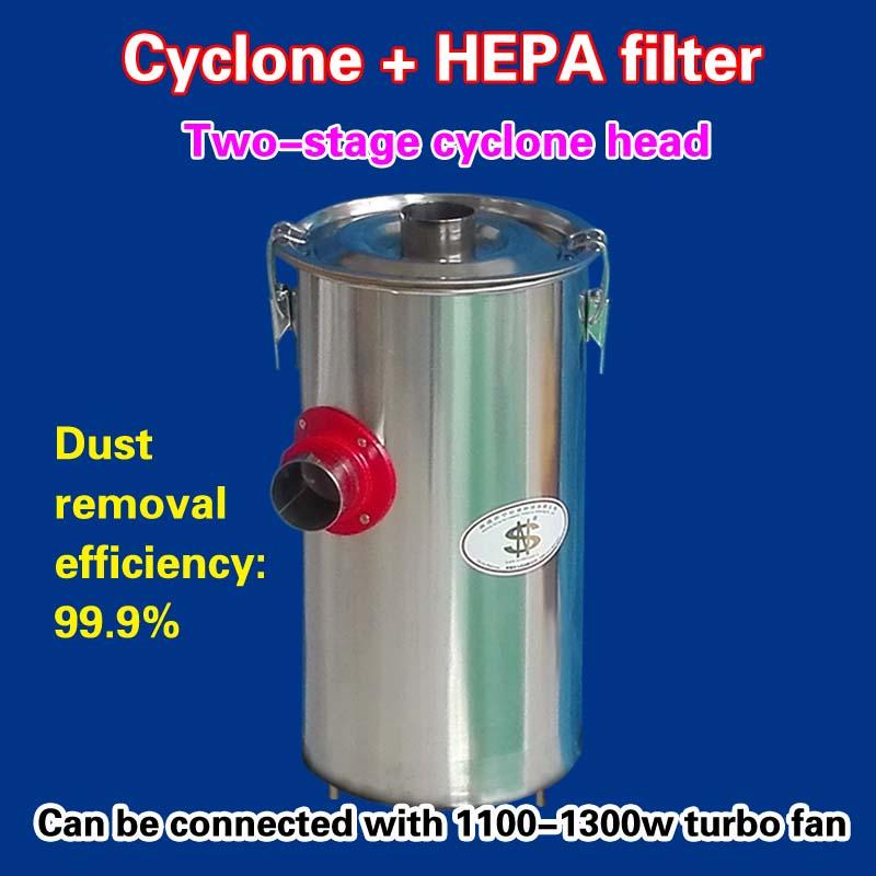 A due stadi cyclone testa = ciclone + filtro HEPA (2 pezzi)A due stadi cyclone testa = ciclone + filtro HEPA (2 pezzi)