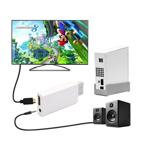 Image 4 - Wii para HDMI Conversor Suporte Wii2HDMI FullHD 720P 1080P 3.5 milímetros de Áudio Adaptador para HDTV Conversor Wii