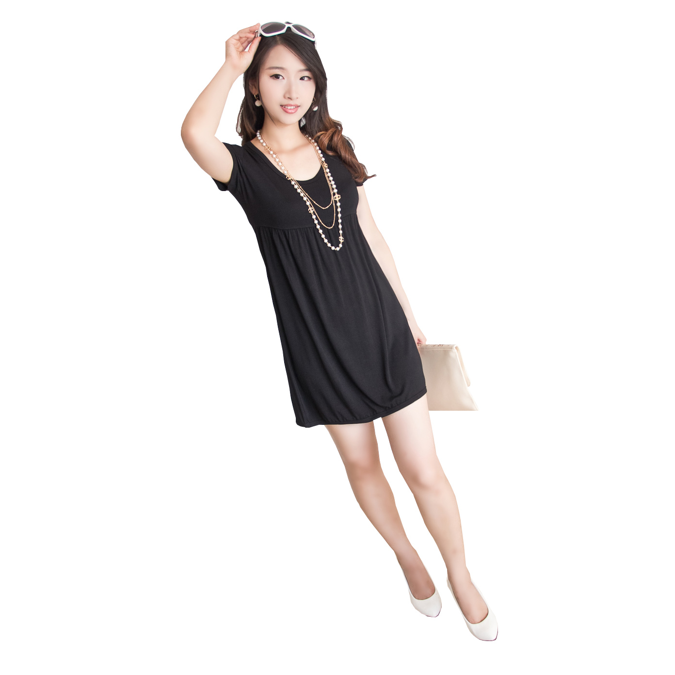 2015 new fashion women plus size summer casual slim one Fashion style for short girl