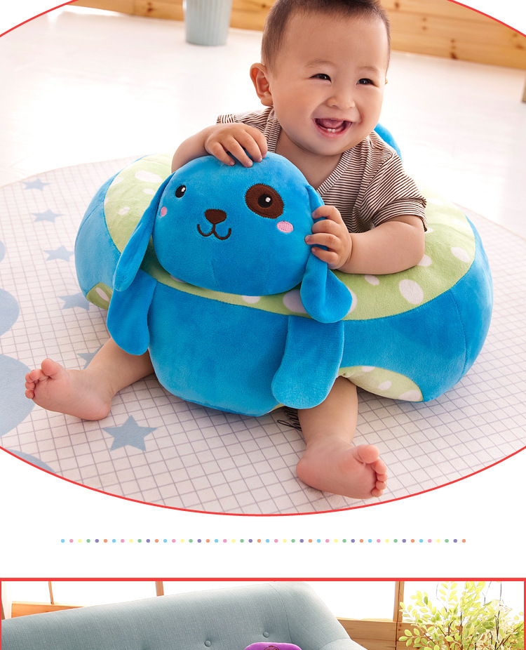 купить Cute Cartoon animal baby Support Seat Sofa Baby Learning To Sit Chair Comfortable Travel Car Seat Pillow Cushion по цене 2688.62 рублей