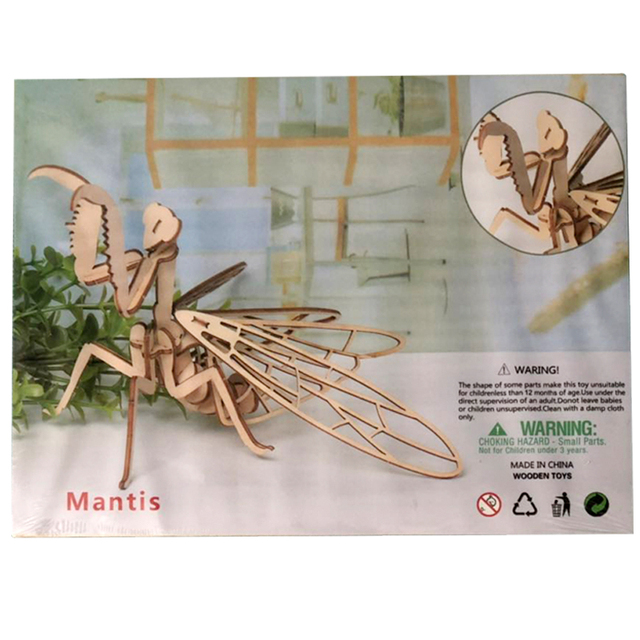 Baby Toy Montessori 3D Puzzle DIY Jigsaw Board Wooden Puzzle Insect Animal Handmade Educational Assembly Toy