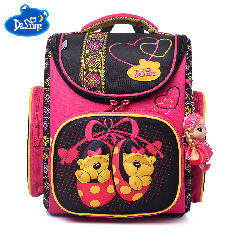 kids Cartoon School Bags girls Mochila Infantil Children Orthopedic School Backpacks for Boys Primary Schoolbag kids Grade 1-5 ...