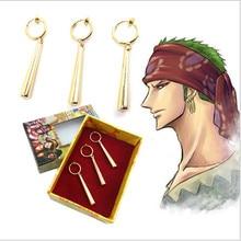 3PCS One Piece Pirate Hunter Roronoa Zoro Earrings