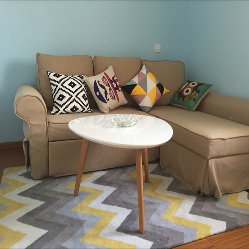 Acrylique rayé tapis alfombras moderne fait main tapis salon chambre mode créative table basse canapé tapete - 5
