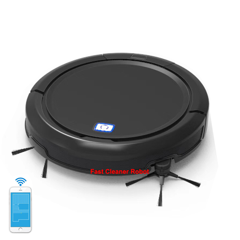 NEW Navigation Mapping Wet and Dry Robot Vacuum Cleaner with Ultrasonic Sensor which can work on the Black Cartpet,Black Floor цены