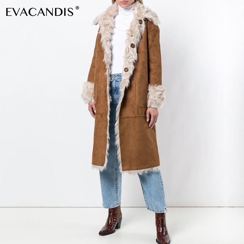 Poitrine Outwear Cuir Doux Manteau Chamois Chaud Designer Pardessus 6xPq55