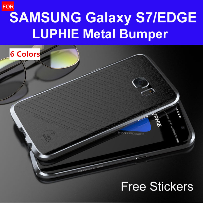finest selection 0307d 43c5c s7 edge bumper G935 original LUPHIE amazing highly oxidized aluminum metal  frame for samsung galaxy s7 case G930 hard cases-in Phone Bumper from ...